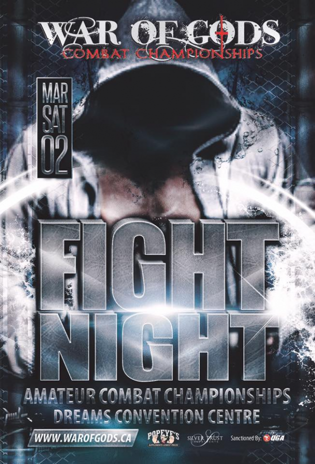 "Amateur MMA returns to Ontario with ""War of God's"" Combat Championships"