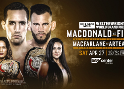 Bellator Returns to SAP Center at San Jose on Saturday, April 27 With Two World Title Fights Live on DAZN