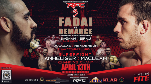 Rise FC 3 Results from Chilliwack, BC