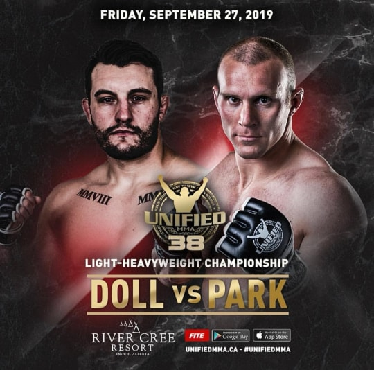 Park and Doll Collide for LHW Title at Unified 38 in Edmonton, Alberta