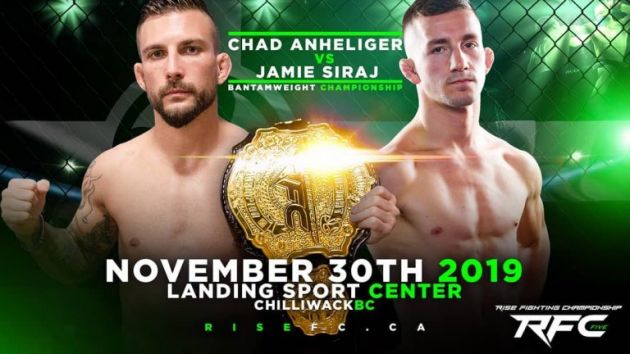 Anheliger vs. Siraj Title Fight Headlines Rise FC 5  in B.C.