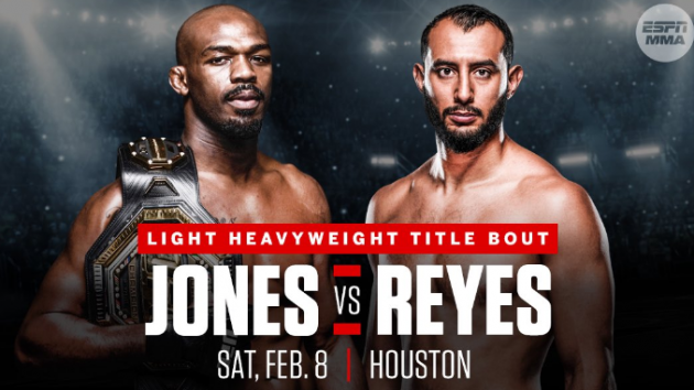 Jon Jones vs. Dominick Reyes official for UFC PPV event this February in Houston