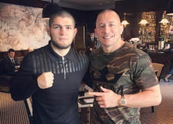 Was the UFC worried that Georges St-Pierre would beat Khabib?