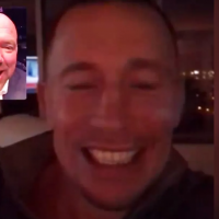 GSP's reaction to being inducted into the UFC Hall of Fame is priceless