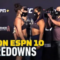 UFC on ESPN 10 Weigh-In Staredowns