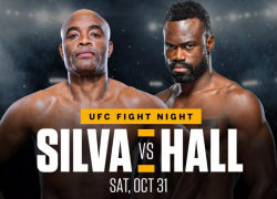 Latest UFC fight card, ESPN+ lineup for 'Silva vs Hall' on Oct. 31 on 'Fight Island'