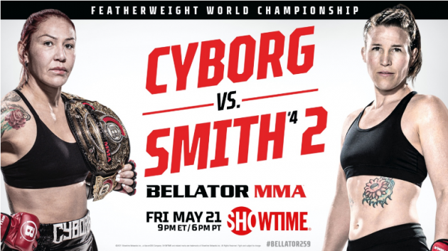 BELLATOR MMA Confirms Full Fight Card for BELLATOR 259 on SHOWTIME Next Friday, May 21 at 9 p.m. ET