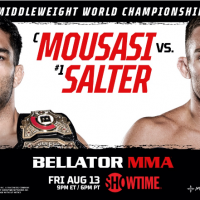 Gegard Mousasi Set to Defend BELLATOR MMA Middleweight World Championship Against John Salter on Friday, August 13