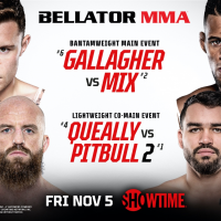 Two Bouts Featuring Top-Ten Ranked Fighters Added to Main Card of BELLATOR 270: Gallagher vs. Mix on Friday, Nov. 5