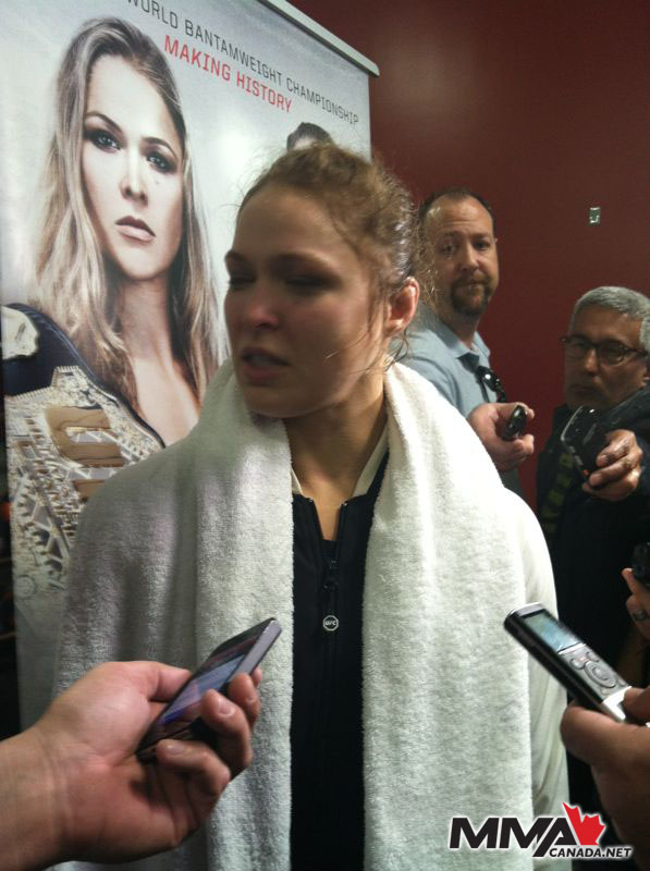"UFC 157 ""Rousey vs. Carmouche"" open workout photos"