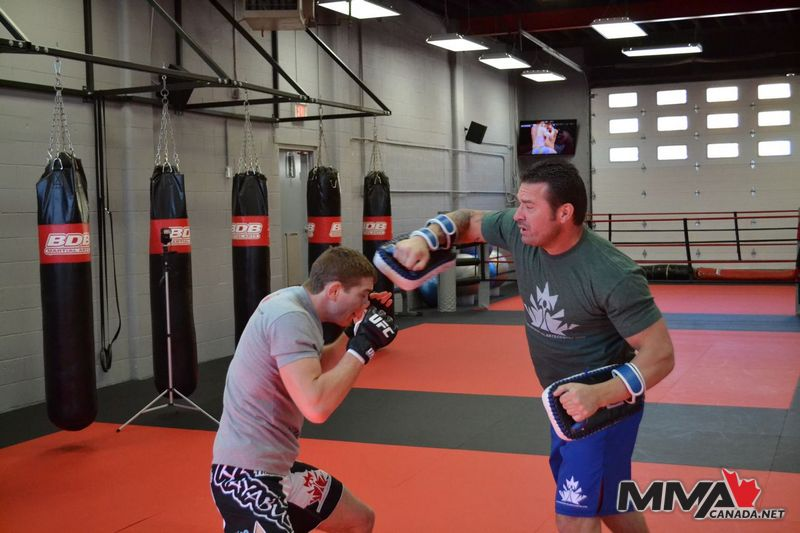 Photos: Media workout with Jordan Mein at Champion's Creed Gym in Calgary