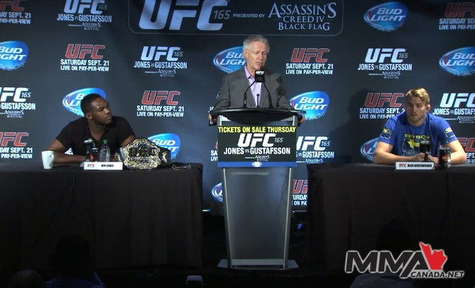 "UFC 165 ""Jones vs. Gustafsson"" press conference photos"
