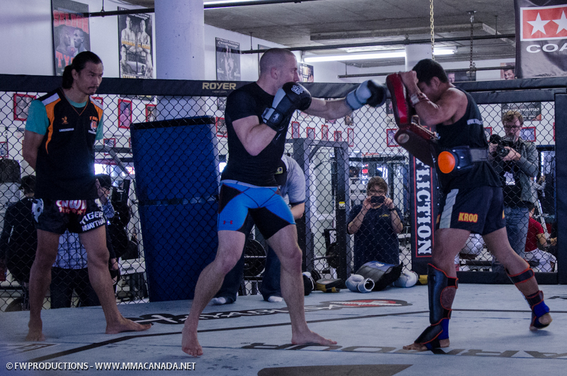 Photo Gallery:  UFC Open Workouts with Georges St-Pierre and Rory MacDonald in Montreal