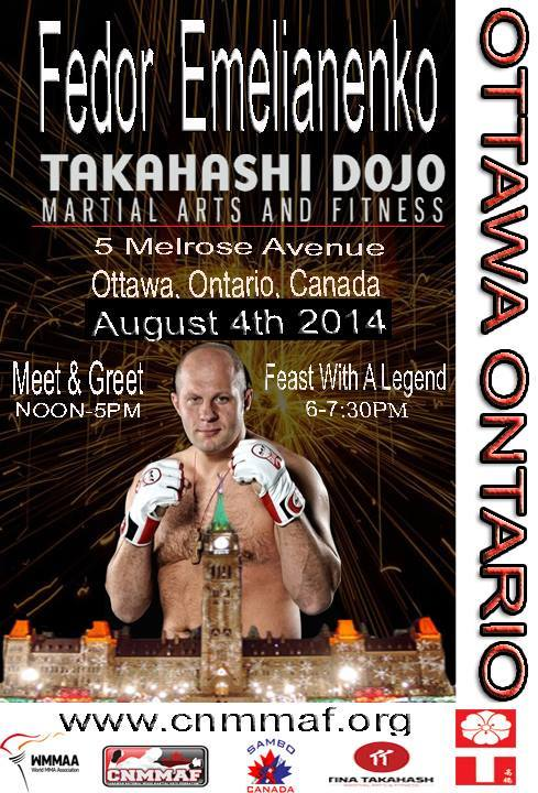 Fans across Canada can meet and train with MMA legend Fedor Emelianenko
