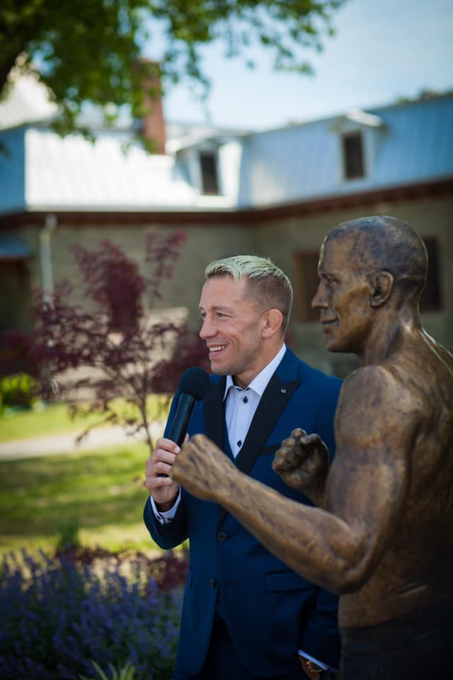 Canadian UFC Icon Georges St-Pierre honoured with life-sized bronze statue in hometown of Saint-Isidore